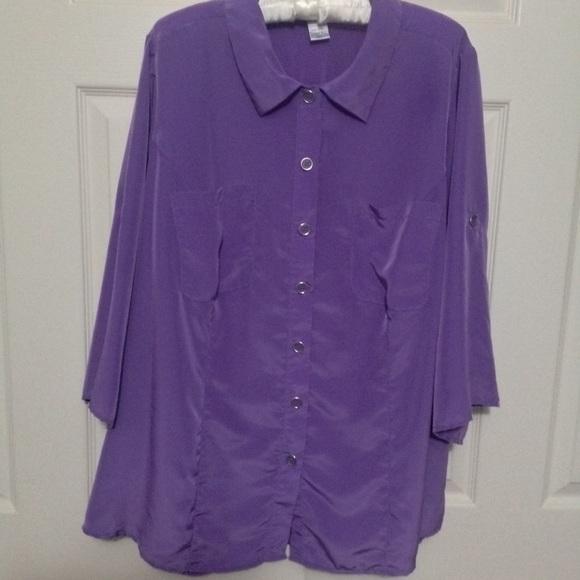 78e42e399dd NWOT Roaman s Plus Size 24W - 3 4 Sleeve Blouse